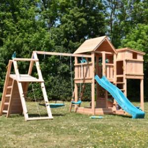 Luxe speeltoestel Palazzo inclusief glijbaan, klimwanden en schommel