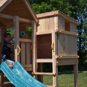 Speeltoestel Palazzo inclusief speelhuisje, glijbaan, klimwand