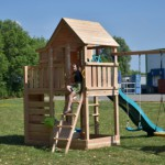 Luxe speeltoestel Palazzo inclusief glijbaan en schommel | Douglas