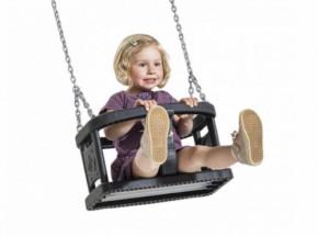Babyschommelzitje Curve professionele babyschommel met RVS kettingen