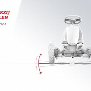Skelter BERG Rally Orange - Stabiel dankzij de vier wielen