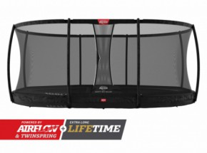Trampoline BERG Grand Champion 520 InGround Zwart - met net Deluxe Ovaal 520x340cm