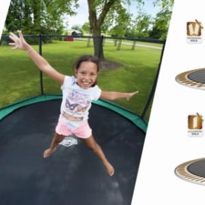 Trampoline BERG Ultim Elite Flatground | Twinspring Gold trampolineveren