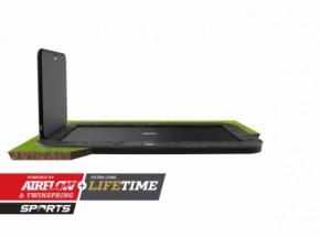 Trampoline BERG Ultim Elite Flatground grijs met AeroWall 2x2 500x300cm