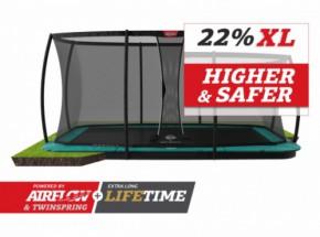 Trampoline BERG Ultim Champion Flatground Groen | met veiligheidsnet DLX XL | 410x250cm