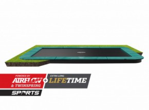 Trampoline BERG Ultim Champion Flatground | Groen | 410x250cm