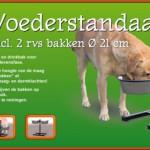 H-standaard hamerslag met RVS voerbakken Ø21cm