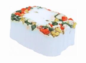 Mineraal knaagsteen met groente