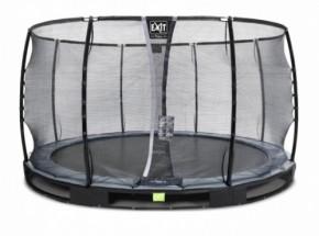 Trampoline EXIT Elegant Premium InGround met veiligheidsnet Deluxe Ø366cm