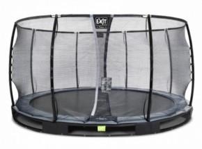 Trampoline EXIT Elegant Premium InGround met veiligheidsnet Deluxe - Ø427cm - zwart