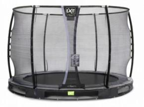 Trampoline EXIT Elegant Premium InGround met veiligheidsnet Deluxe Ø305cm - zwart