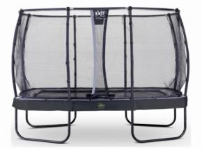 Trampoline EXIT Elegant Premium met veiligheidsnet Deluxe - 427x244cm - zwart