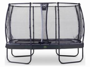 Trampoline EXIT Elegant Premium met veiligheidsnet Deluxe - 366x214cm - zwart