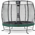 Trampoline EXIT Elegant Premium met veiligheidsnet Deluxe - Ø305cm - groen