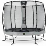 Trampoline EXIT Elegant Premium met veiligheidsnet Deluxe - Ø305cm - grijs