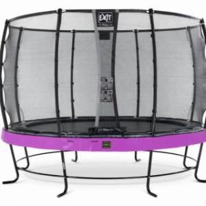 Trampoline EXIT Elegant Premium met veiligheidsnet Deluxe - Ø427cm - paars