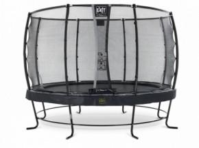 Trampoline EXIT Elegant Premium met veiligheidsnet Deluxe - Ø366cm - zwart