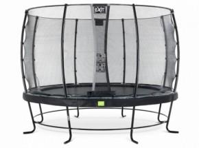 Trampoline EXIT Elegant met veiligheidsnet Economy - Ø366cm - zwart
