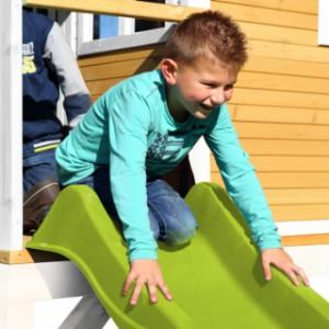 Speelhuis AXI  Romy Bruin-wit met glijbaan en zandbak | glijbaan