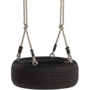 Autobandschommel Horizontaal is een stoere autobandschommel die zorgt voor dubbel schommelplezier op een echte autoband.