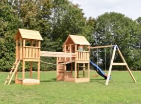 Speeltoestel Backyard met schommel Douglas hout Blue Rabbit