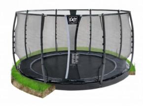 Trampoline EXIT Dynamic Groundlevel met veiligheidsnet Ø427cm