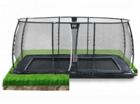 Trampoline EXIT Dynamic Groundlevel met veiligheidsnet 519x305cm
