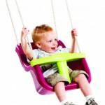 Babyschommelzitje Paars - babyschommel met kindvriendelijk PH-touw