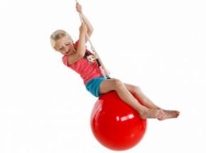 Schommelboei rood - De schommel boeibal 'drop' rood is geschikt als schommel, boksbal en schopbal