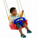 Meegroei Babyschommelzitje Rood-Geel-Blauw