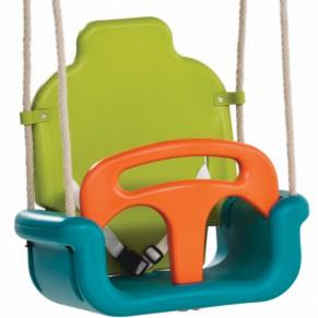 Meegroei Babyschommelzitje Limoen-Turquoise-Oranje