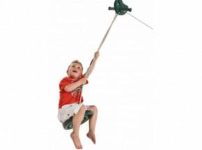 Kabelbaan groen met schotelschommel