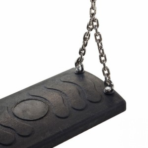 Schommelzitje comfort Zwart - met RVS kettingen