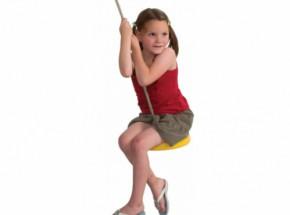 Kunststof schotelschommel Geel - met PH-touw