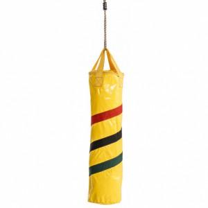 Bokszak geel is een leuke bokszak van kunststof gecoat textiel
