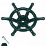 Stuurwiel groen boot