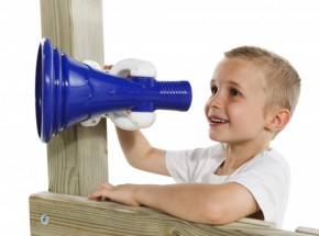 Megafoon blauw - wit