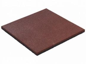 Rubber tegel rood 25mm