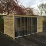Hondenkennel Forz 2x4 met houtkader en geïsoleerd nachthok