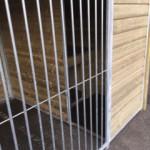 Hondenkennel met geïsoleerd nachthok en vlonder