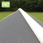 Speelhuisje EXIT Loft 300 groen met glijbaan