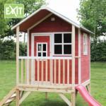 Speelhuisje EXIT Loft 300 rood met glijbaan