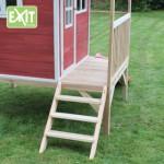 Speelhuisje EXIT Loft 300 met veranda en glijbaan