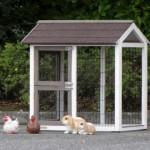 Aanbouwren konijnenhok
