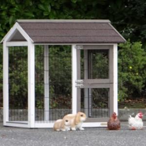aanbouwren kippenhok | konijnenhok
