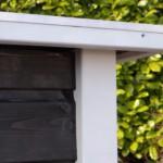 Sterk hondenhok, netjes afgewerkt met aluminium rand