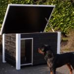 Hondenhok met multi-functioneel scharnierdak