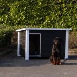 Hondenhok Wolf zwart/wit is een ideaal hondenhok voor buiten