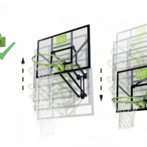 Basket EXIT Galaxy Wall-Mount System met dunkring