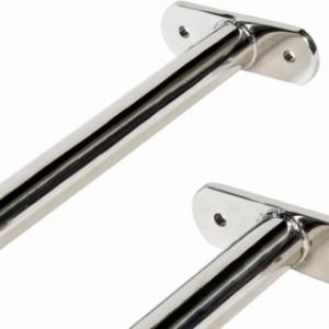 Metalen duikelstangen van schitterend RVS.